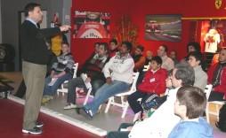 O. Rios durante el Seminario que tocó temas de coaching mental, sensorial y técnico.